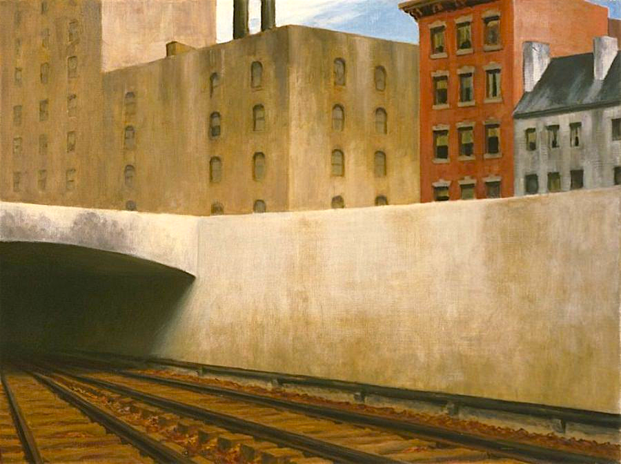 approachingacity by edward hopper